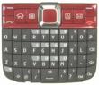Klávesnice Nokia E63 červená originální