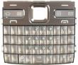 Klávesnice Nokia E72 hnědá originál