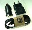 Nabíječka + autonabíječka USB 1A + mikro USB kabel