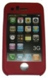 Pouzdro Iphone silikon - červené, růžové