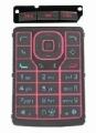 Klávesnice Nokia N76 červená originální