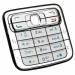 Klávesnice Nokia N73 stříbrná originální-Originální klávesnice pro mobilní telefon Nokia :Nokia N73
