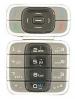 Klávesnice Nokia 7200 stříbrno černá-Klávesnice pro mobilní telefony Nokia:Nokia 7200stříbrno černá