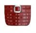 Klávesnice Nokia E75 červená originál-Originální klávesnice pro mobilní telefon Nokia :Nokia E75červená