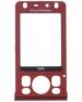 Kryt Sony-Ericsson W910 červený originál-Originální přední kryt vhodný pro mobilní telefony Sony-Ericsson: Sony-Ericsson W910