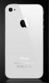iPhone 4 zadní kryt bílý -iPhone 4 zadní kryt bílý - originální