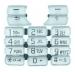 Klávesnice Sony-Ericsson K700 stříbrná-Klávesnice pro mobilní telefony Sony-Ericsson:Sony Ericsson K700 stříbrná